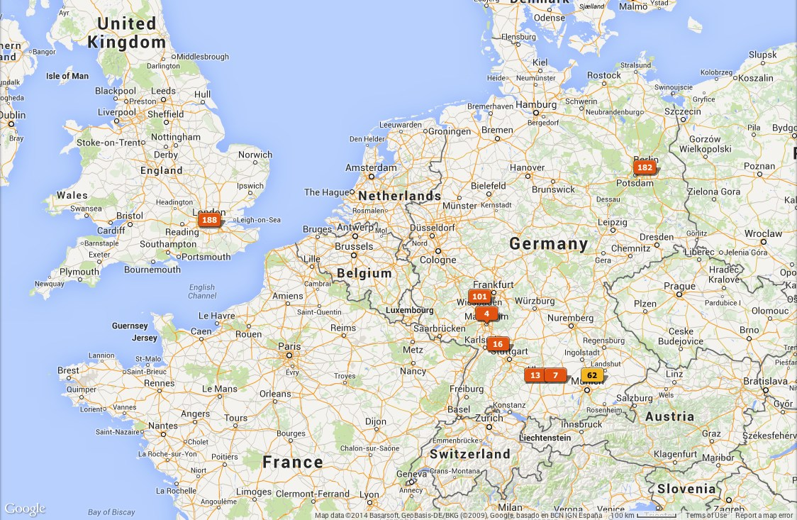 Euro Trip Map Project Rich - Germany map full